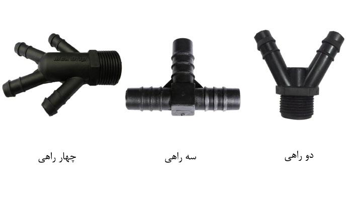 استفاده از دو سه و چهارراهی برای ایجاد انشعاب در لوله آبیاری 16